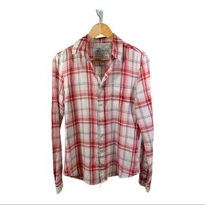 JOE'S JEANS The Shirt Sexy Fit Red Plaid Size XS